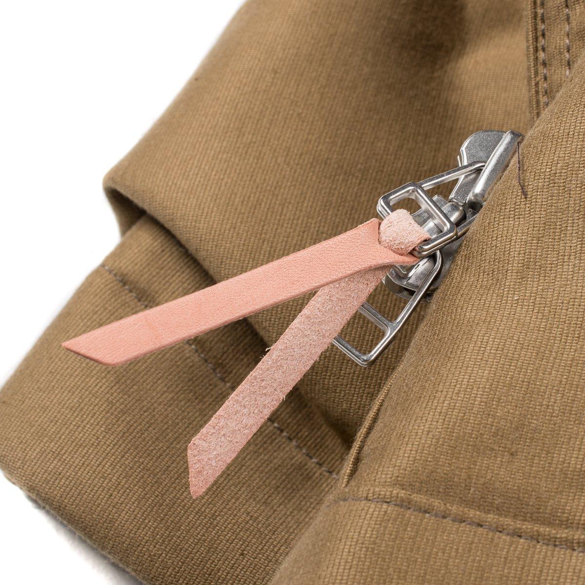 125214351a1 ... Khaki Alpaca Lined Whipcord N1 Deck Half-Coat ...