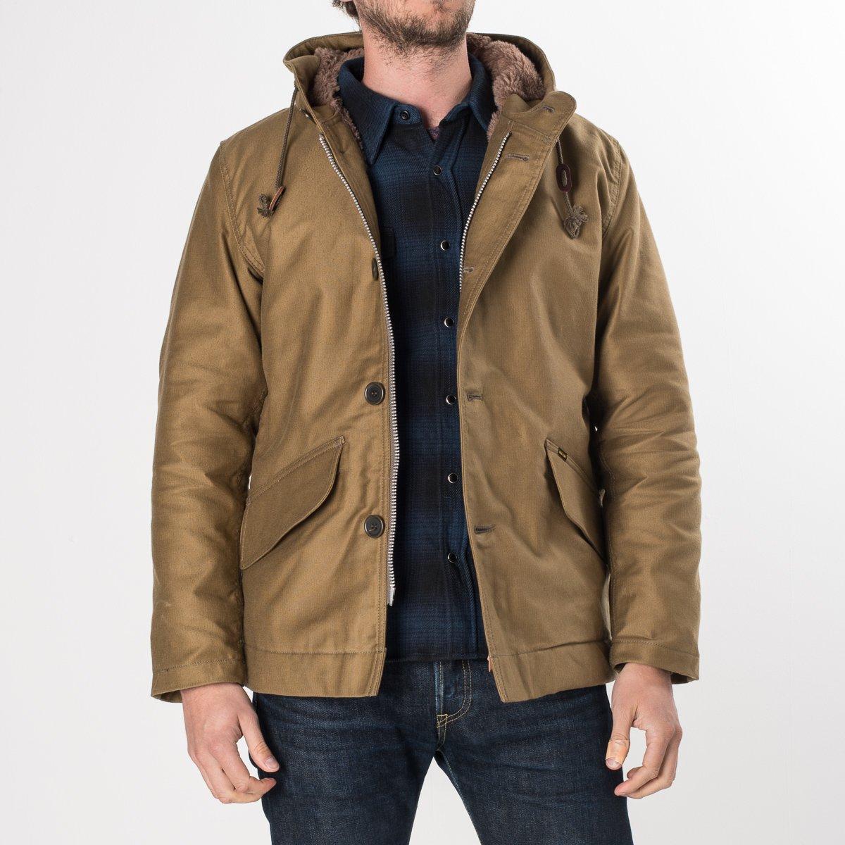 ea985b494be ... Khaki Alpaca Lined Whipcord N1 Deck Half-Coat
