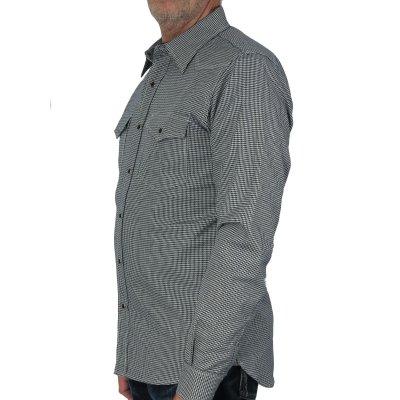 Indigo Dyed Houndstooth Flannel Western