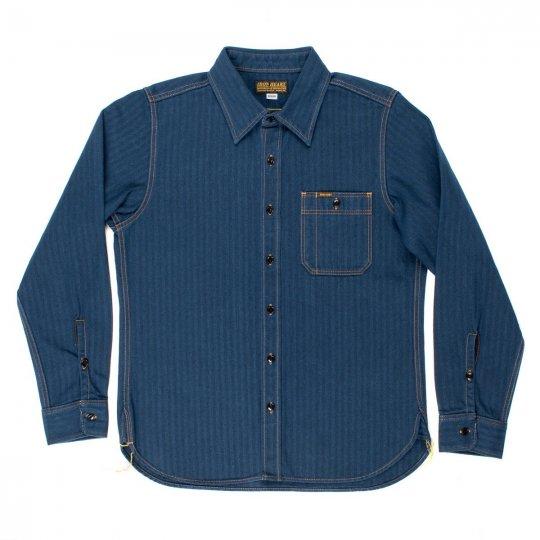 Indigo Heavy Herringbone Single Pocket Work Shirt
