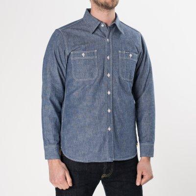Blue 10oz Selvedge Chambray Work Shirt