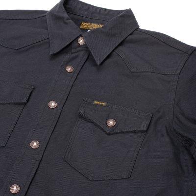 Black 12oz Cotton Serge CPO Style Shirt