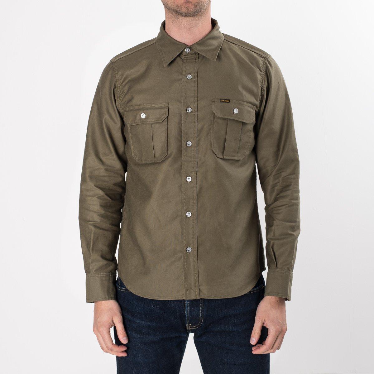 Olive Super Tough Cotton Military Work Shirt