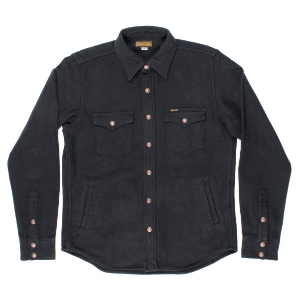 Charcoal Ultra Heavy Plain Flannel CPO Style