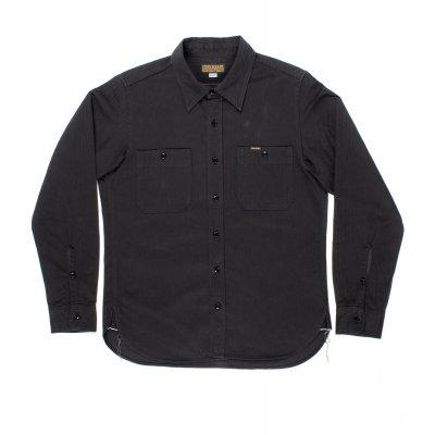 Charcoal or Olive 9oz Organic Selvedge Herringbone Work Shirt