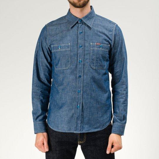 Natural Indigo 6oz Chambray Work Shirt
