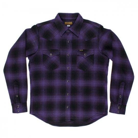 Ultra Heavy Flannel Ombré Check Western Shirt