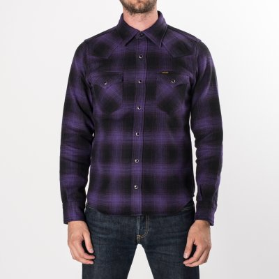 Ultra Heavy Flannel Ombré Check Western Shirt