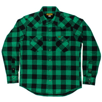 Green, Grey or Red with Black Ultra Heavy Buffalo Check Western