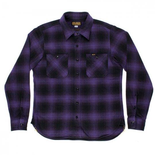 Ultra Heavy Flannel Ombré Check Work Shirt
