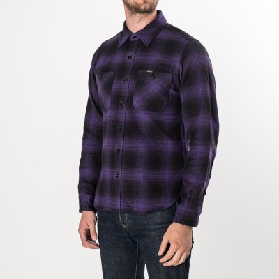 Ultra Heavy Flannel Ombré Check Work Shirt