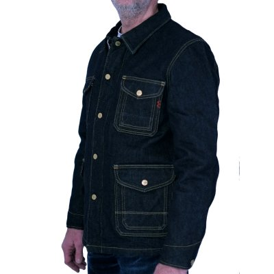 Blanket Lined 21oz Indigo Selvage Denim Shooting Jacket