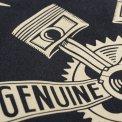 Dark Grey Short-Sleeved Printed Mechanic's Shirt
