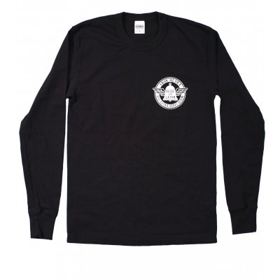 Long Sleeved Loopwheeled Printed Tee