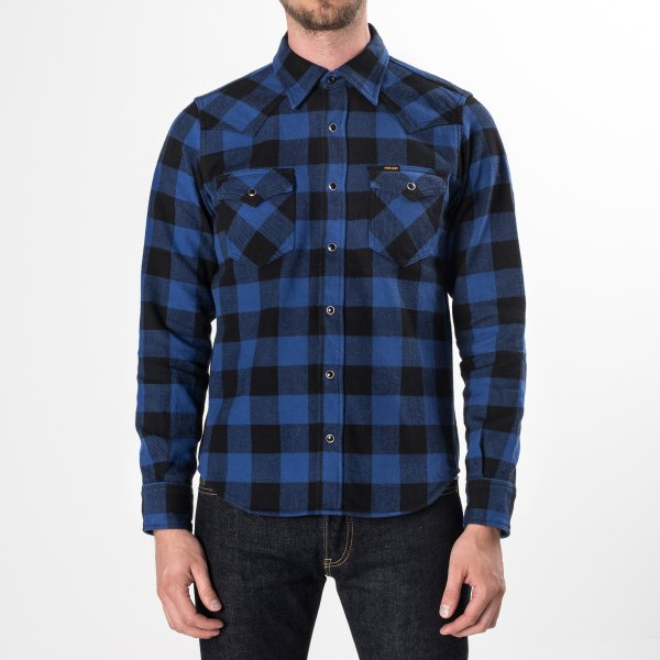 Blue/Black Ultra Heavy Buffalo Check Western