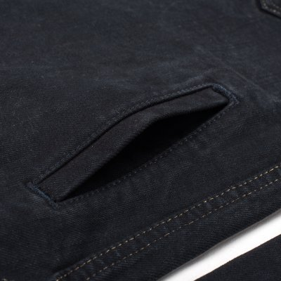 Black Overdyed 17oz Selvedge Denim CPO Style