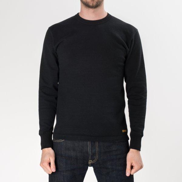 Extra Heavy Cotton Knit Crew Neck Sweater
