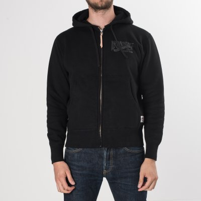 IHSW-24 - Black Ultra Heavy Printed Hooded Sweat with Black Print