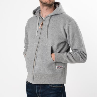 Grey Ultra Heavy Plain Hooded Sweat