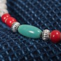 Beads Bracelet with Turquoise and Silver