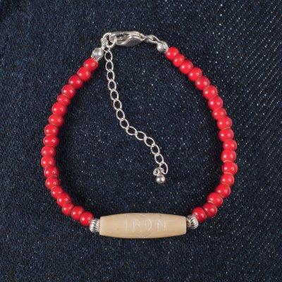 """White Hearts"" Bead Bracelet"