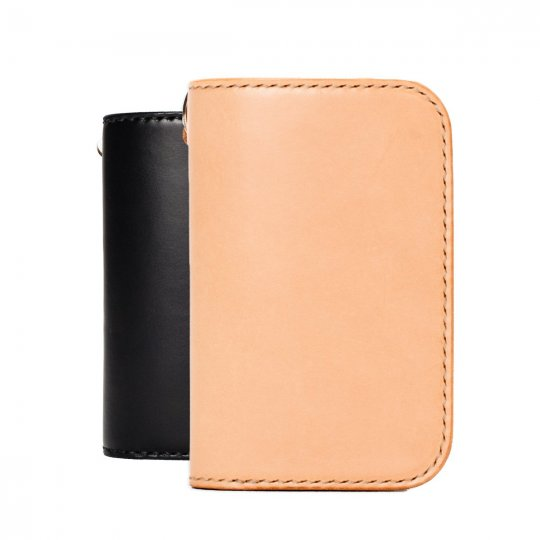 Medium Buttero Leather Wallet Black or Tan