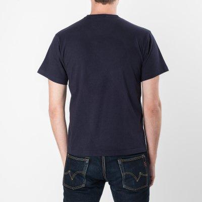 Printed 6.5oz Navy Loopwheel T-Shirts
