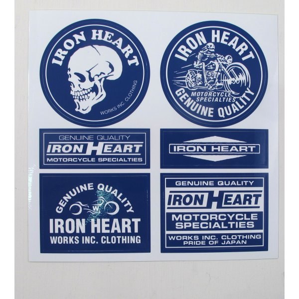 Blue Iron Heart Stickers
