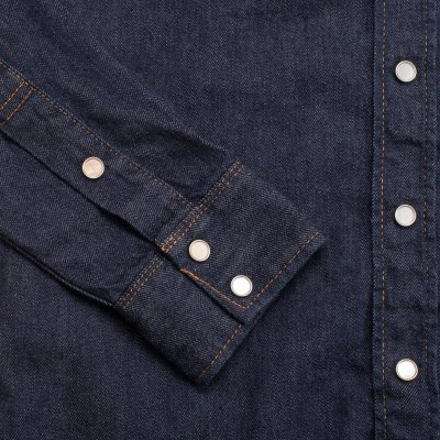 Indigo 7oz Selvedge Denim Sawtooth Western Shirt