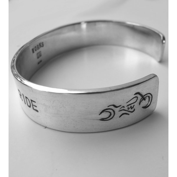 Ride to Live, Live to Ride Silver Bangle