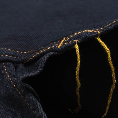 Black Overdyed 12oz Selvedge Denim Western