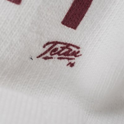 White 7.5oz Printed Crew Neck Loopwheeled Pocket T-Shirts