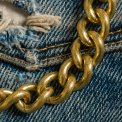 Brass Wallet Chain, Clip, Hook and Ring