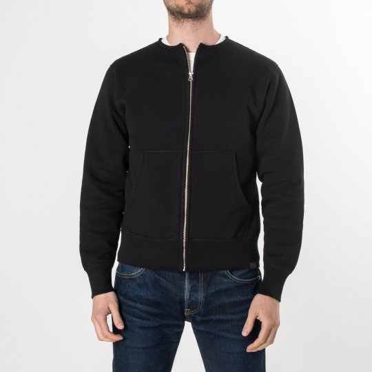 Black Ultra Heavy Zippered Sweater