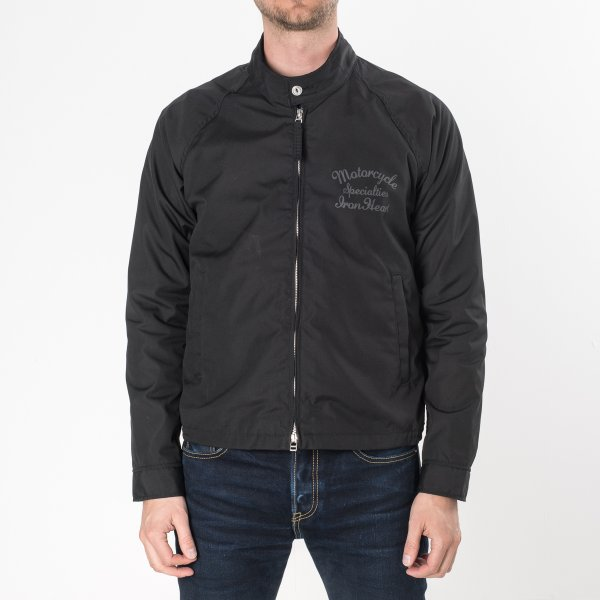 Black T/C Weather Cloth Drizzler Jacket