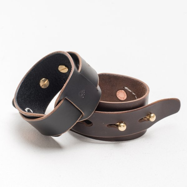 The W & Anchor Leather Cuff