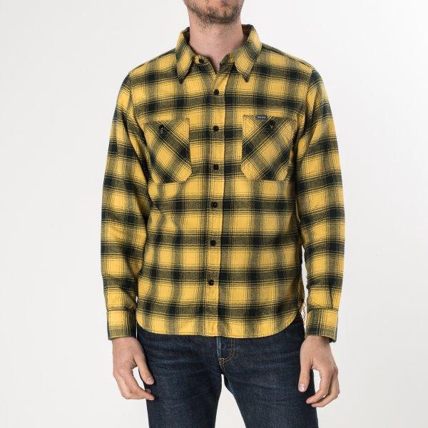 Yellow/Black 6oz Ombré Check Flannel Work Shirt