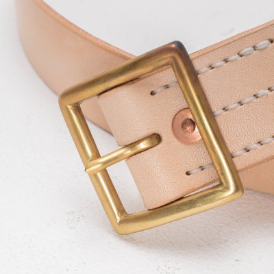 Natural Tan Steerhide Belt by Faith