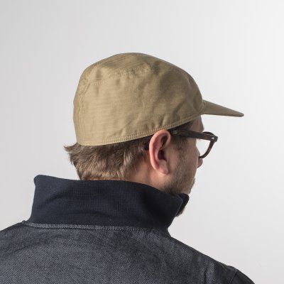"Papa Nui ""Honolulu Tan"" Cotton Herringbone Marauder's Cap"