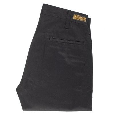 Black 9oz Selvedge Mercerised Cotton Chinos