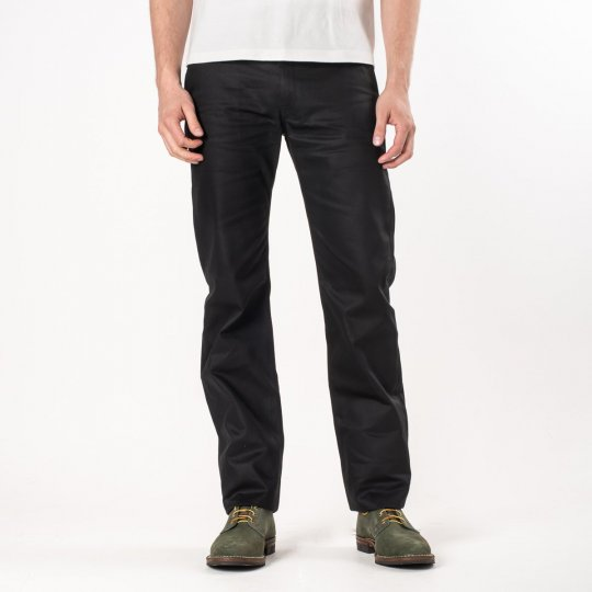 Black 9oz Selvedge Mercerised Cotton Chinos