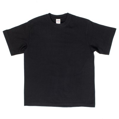 Plain Black Iron Heart 7.5oz Loopwheel T-Shirts