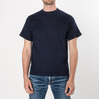 Plain Navy Iron Heart 7.5oz Loopwheel T-Shirts