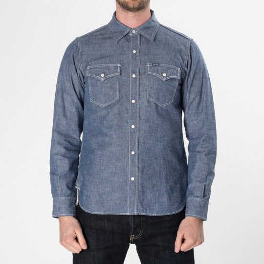 Blue 10oz Selvedge Chambray Single Yoke Western