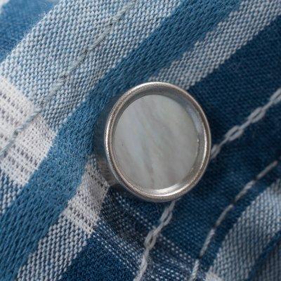 Blue Dobby Check Cotton Western Shirt