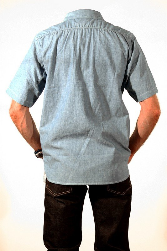 f82b0787ea Short Sleeved Light Weight Selvage Chambray Work Shirt