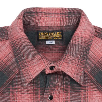 Pink/Grey Ultra Heavy Flannel Check Western