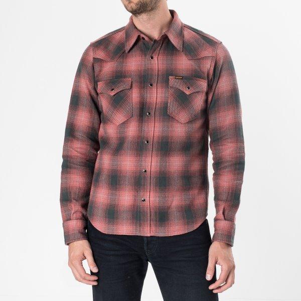 Pink/Grey Ultra Heavy Flannel Check Western