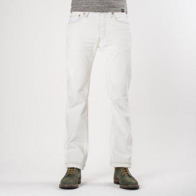 Overdyed White 14oz Selvedge Denim Slim Straight Cut