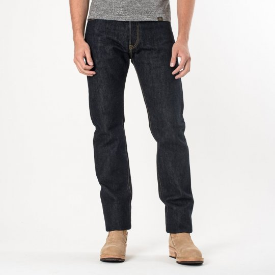 Indigo 21oz Selvedge Denim Medium/High Rise Tapered Cut